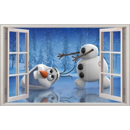 Sticker enfant fenêtre Olaf réf 1059