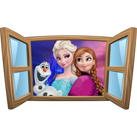 Sticker enfant fenêtre La Reine des Neiges réf 982