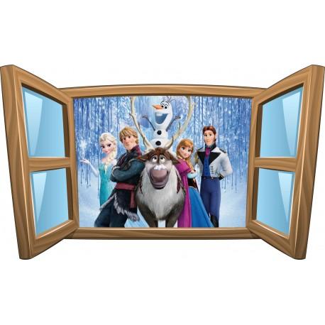 Sticker enfant fenêtre Frozen La reine des neiges réf 955