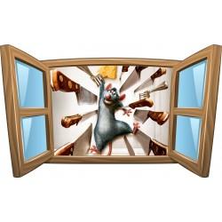 Sticker enfant fenêtre Ratatouille réf 958
