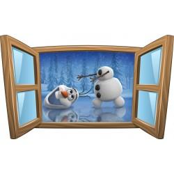 Sticker enfant fenêtre La Reine des Neiges réf 981
