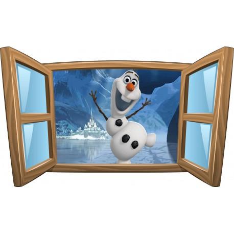 Sticker enfant fenêtre La Reine des Neiges réf 980