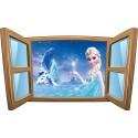 Sticker enfant fenêtre La Reine des Neiges réf 979