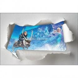 Stickers enfant papier déchiré Frozen la reine des neiges réf 7623