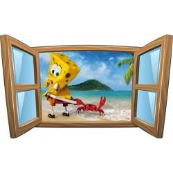 Sticker enfant fenêtre Bob l éponge réf 957