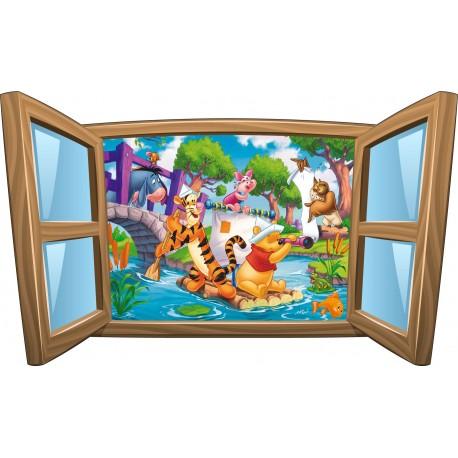 Sticker enfant fenêtre Winnie L'ourson réf 973