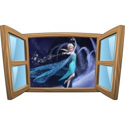 Sticker enfant fenêtre La Reine Des Neiges réf 972