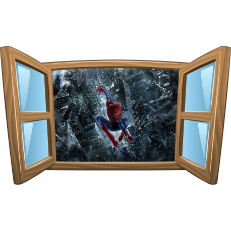 Sticker enfant fenêtre Spiderman Man réf 969