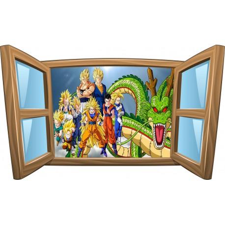 Sticker enfant fenêtre Dragon Ball Z réf 968