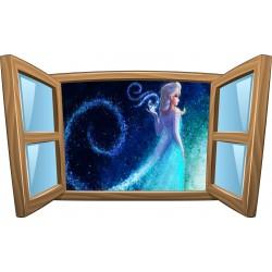 Sticker enfant fenêtre La Reine des Neiges réf 967