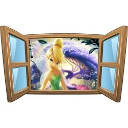 Sticker enfant fenêtre La Fée Clochette réf 964