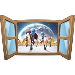 Sticker enfant fenêtre Espace réf 1005