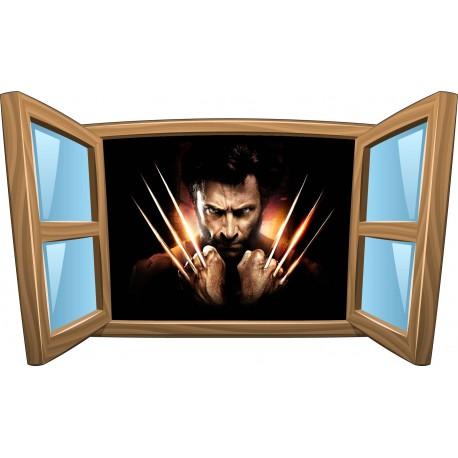 Sticker enfant fenêtre Wolverine réf 1003