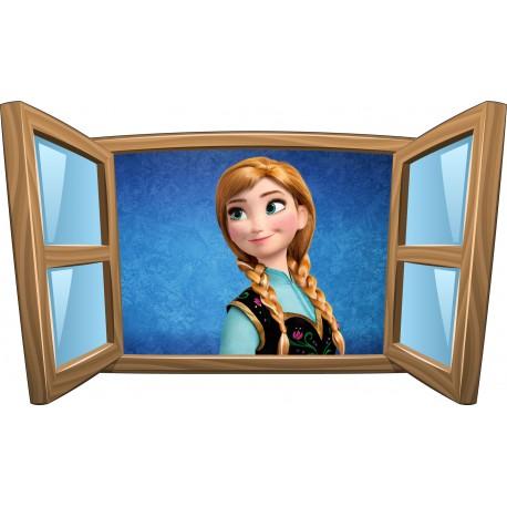 Sticker enfant fenêtre Anna La Reine des Neiges réf 999