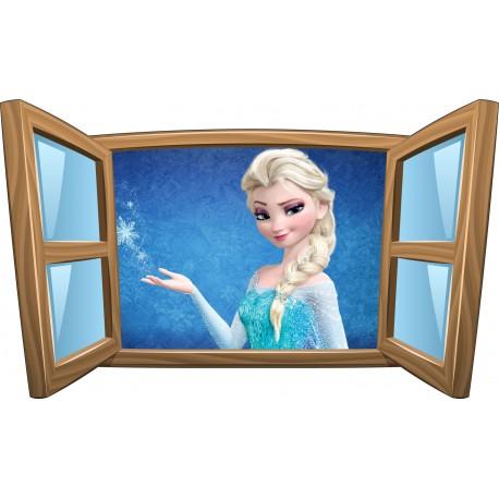 Sticker enfant fenêtre Elsa La Reine des Neiges réf 998