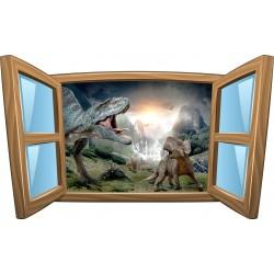 Sticker enfant fenêtre Dinosaures réf 996