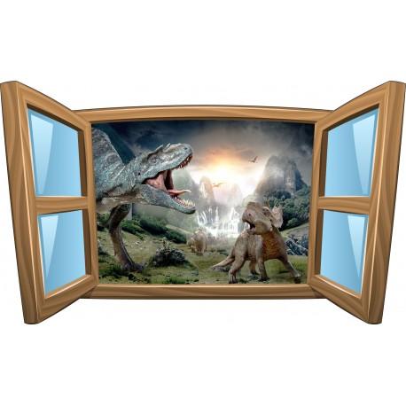 Sticker enfant fenêtre Dinosauresréf 996