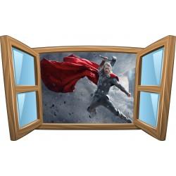 Sticker enfant fenêtre Thor réf 995
