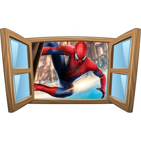 Sticker enfant fenêtre Spiderman réf 994