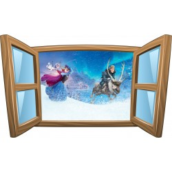 Sticker enfant fenêtre La Reine des Neiges réf 991