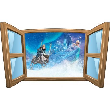 Sticker enfant fenêtre La Reine des Neiges réf 990