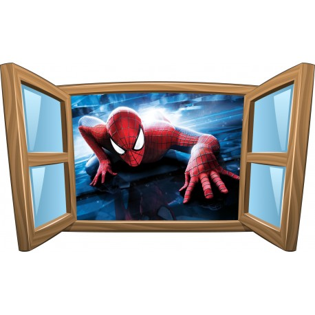 Sticker enfant fenêtre Spiderman réf 989