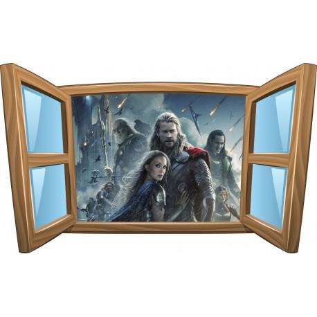 Sticker enfant fenêtre Thor réf 985