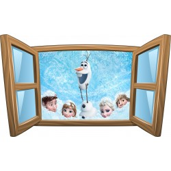 Sticker enfant fenêtre Olaf La Reine des Neiges réf 984