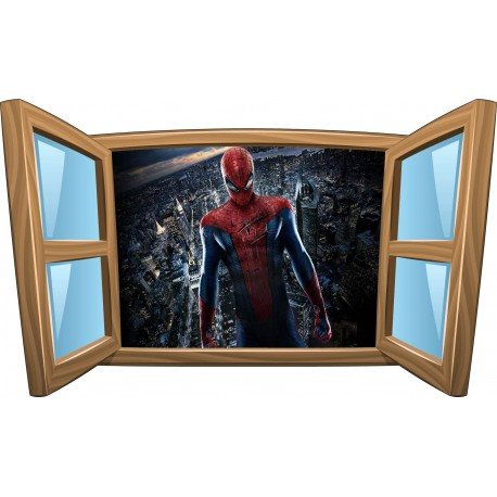 Sticker enfant fenêtre Spiderman réf 1011
