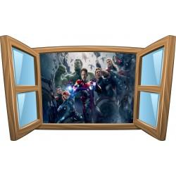 Sticker enfant fenêtre Avengers réf 987