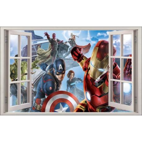 Sticker enfant fenêtre Avengers réf 1061