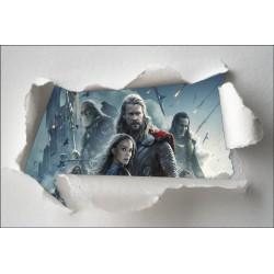 Stickers enfant papier déchiré Avengers réf 7635