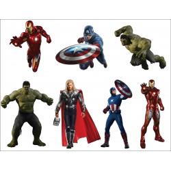 Stickers planche enfant super heros Avengers ref 8870