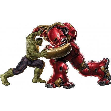 stickers enfant Hulk vs Hulkbuster Iron Man réf 15012