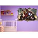 Stickers 3D trompe l'oeil Avengers Iron Man réf 23233