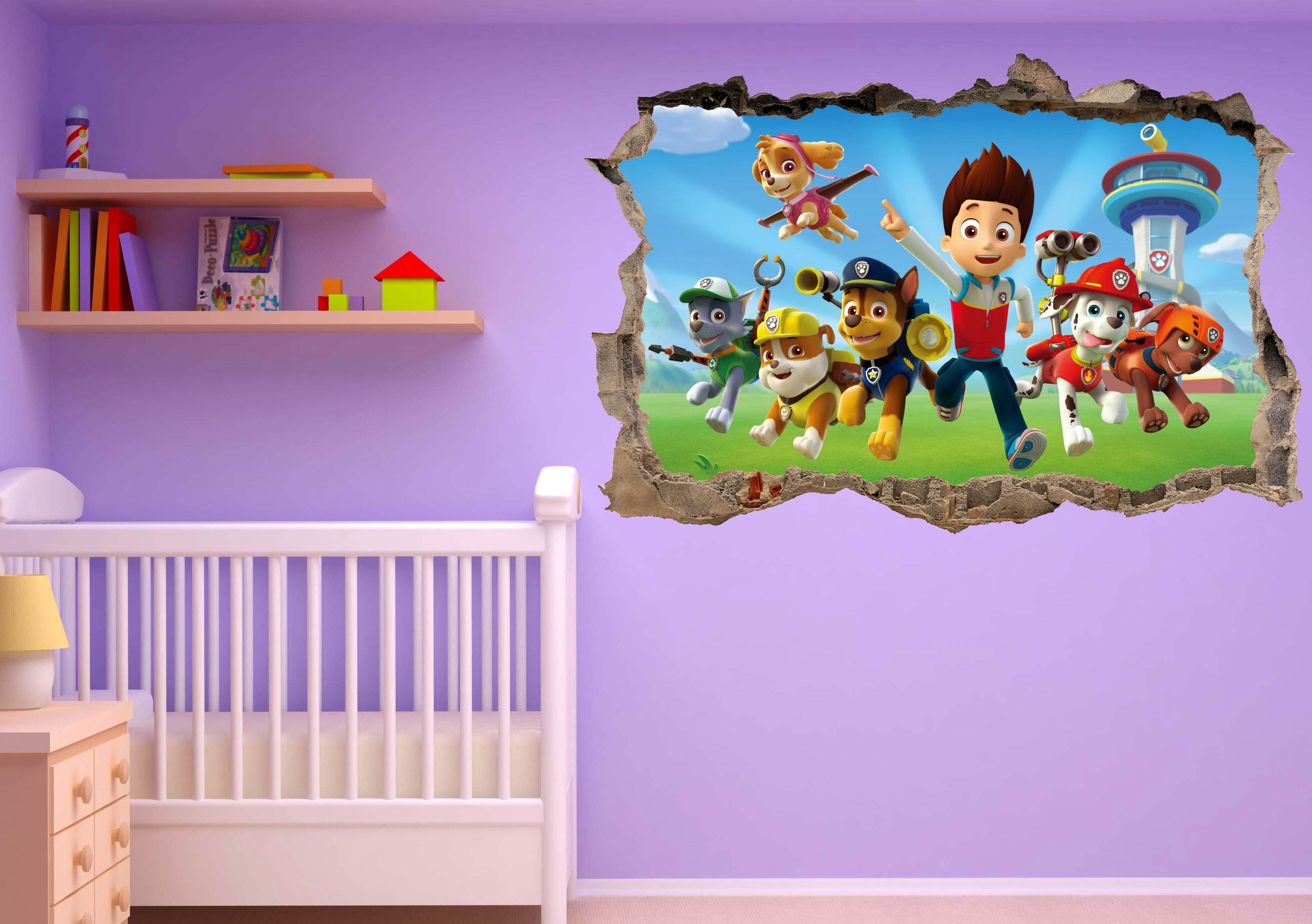 Beautiful papier peint 3d enfant pictures - Stickers chambre bebe ...