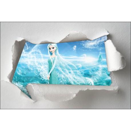 Stickers enfant papier déchiré Elsa réf 7613