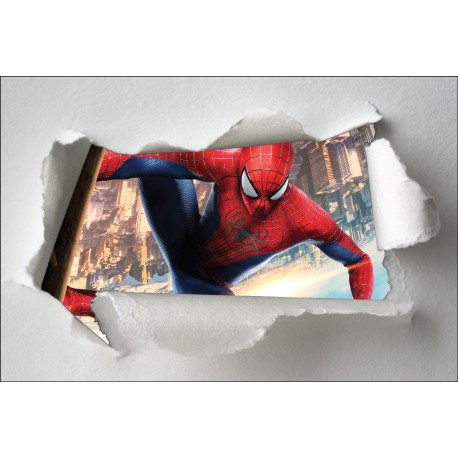 Stickers enfant papier déchiré Spiderman réf 7630