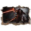 Stickers 3D trompe l'oeil Star Wars Kylo Ren réf 23258