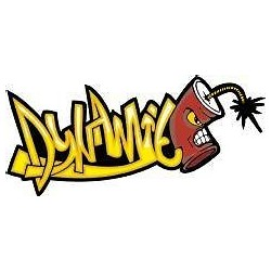 Sticker mural graphiti Tag Dynamite 30x14cm