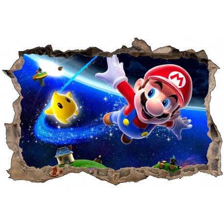 Stickers 3D Super Mario galaxy réf 23248