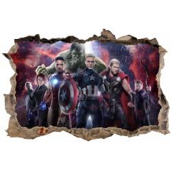 Stickers 3D Avengers réf 23312