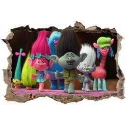 Stickers 3D Trolls réf 23614
