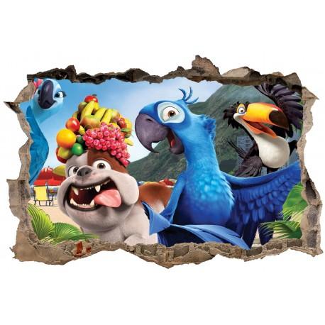 Stickers 3D Rio réf 23617