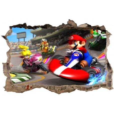 Stickers 3D Mario Kart réf 23622