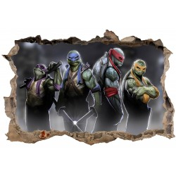 Stickers 3D Tortue Ninja réf 23620