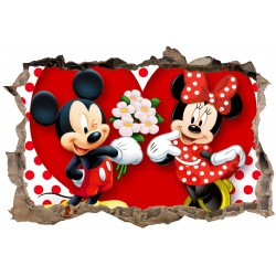 Stickers 3D Mickey minnie réf 23637