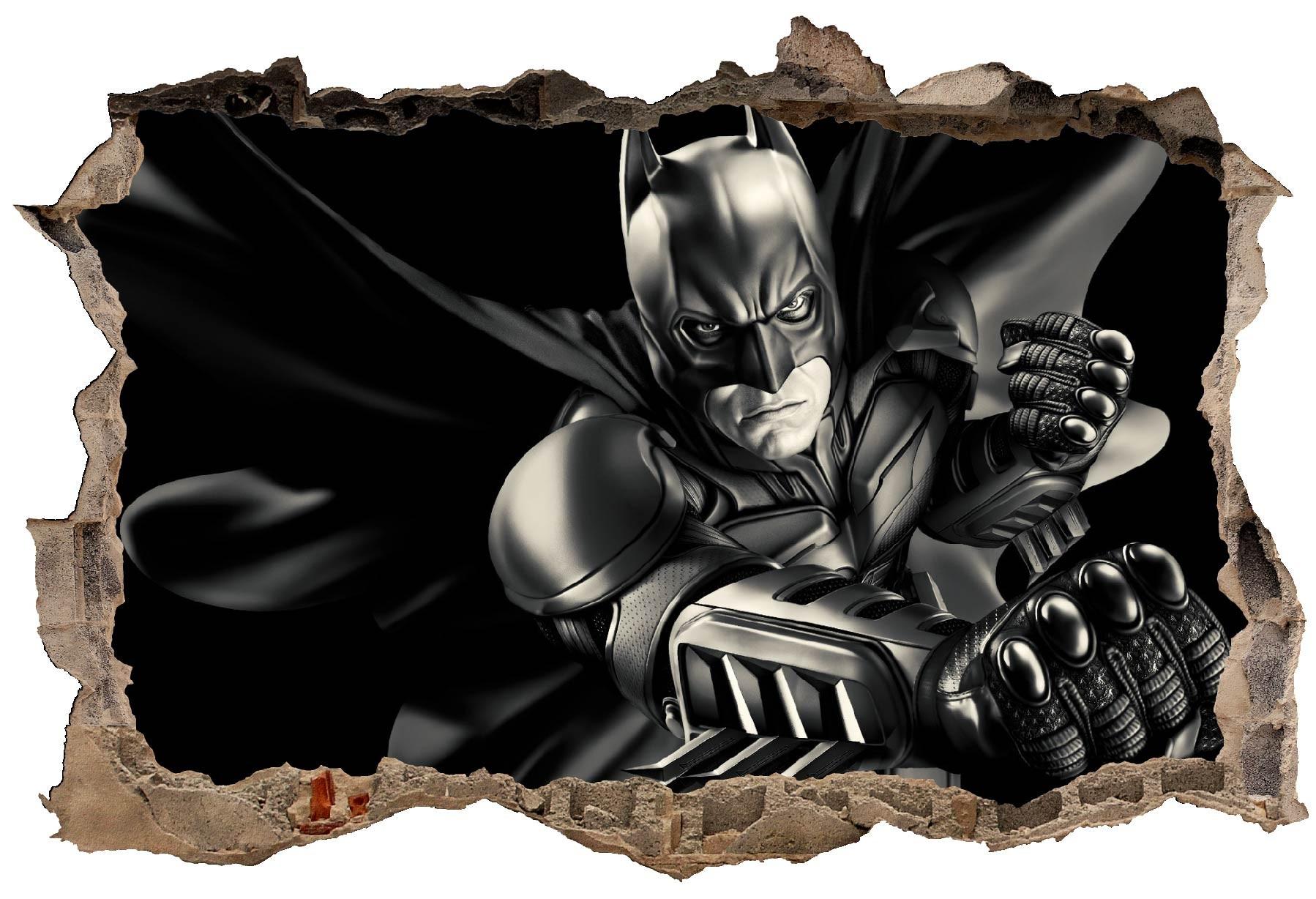 Stickers Trompe l/'oeil pierre Batman réf 15086