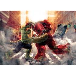 Papier peint enfant géant Hulk