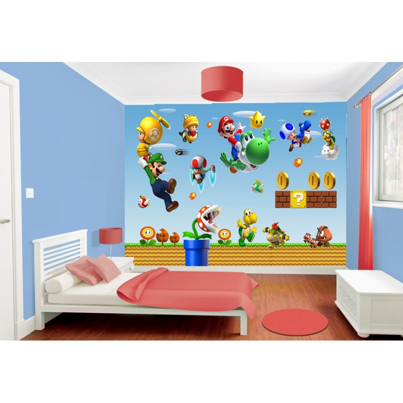 papier peint enfant g ant mario stickers muraux enfant. Black Bedroom Furniture Sets. Home Design Ideas